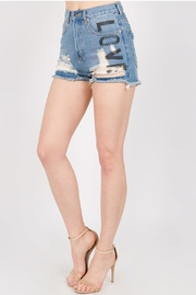 Signature 8 Painted Denim Skirt - Product Mini Image