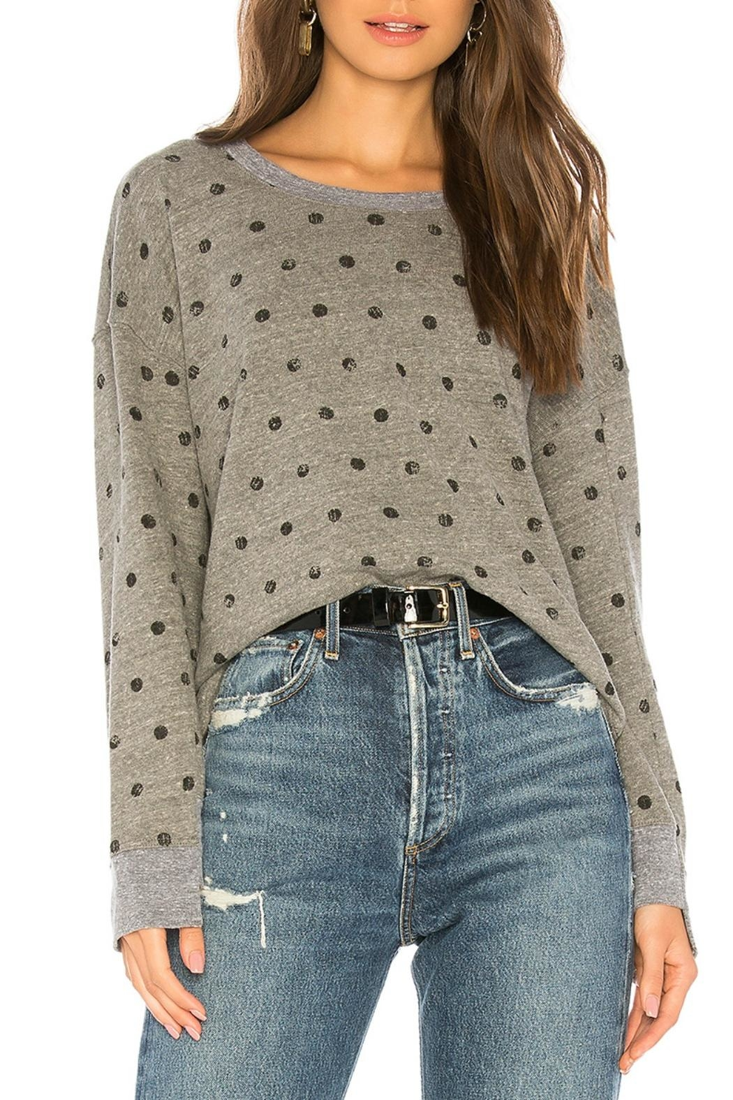 Splendid Painted Dot Sweater - Front Cropped Image