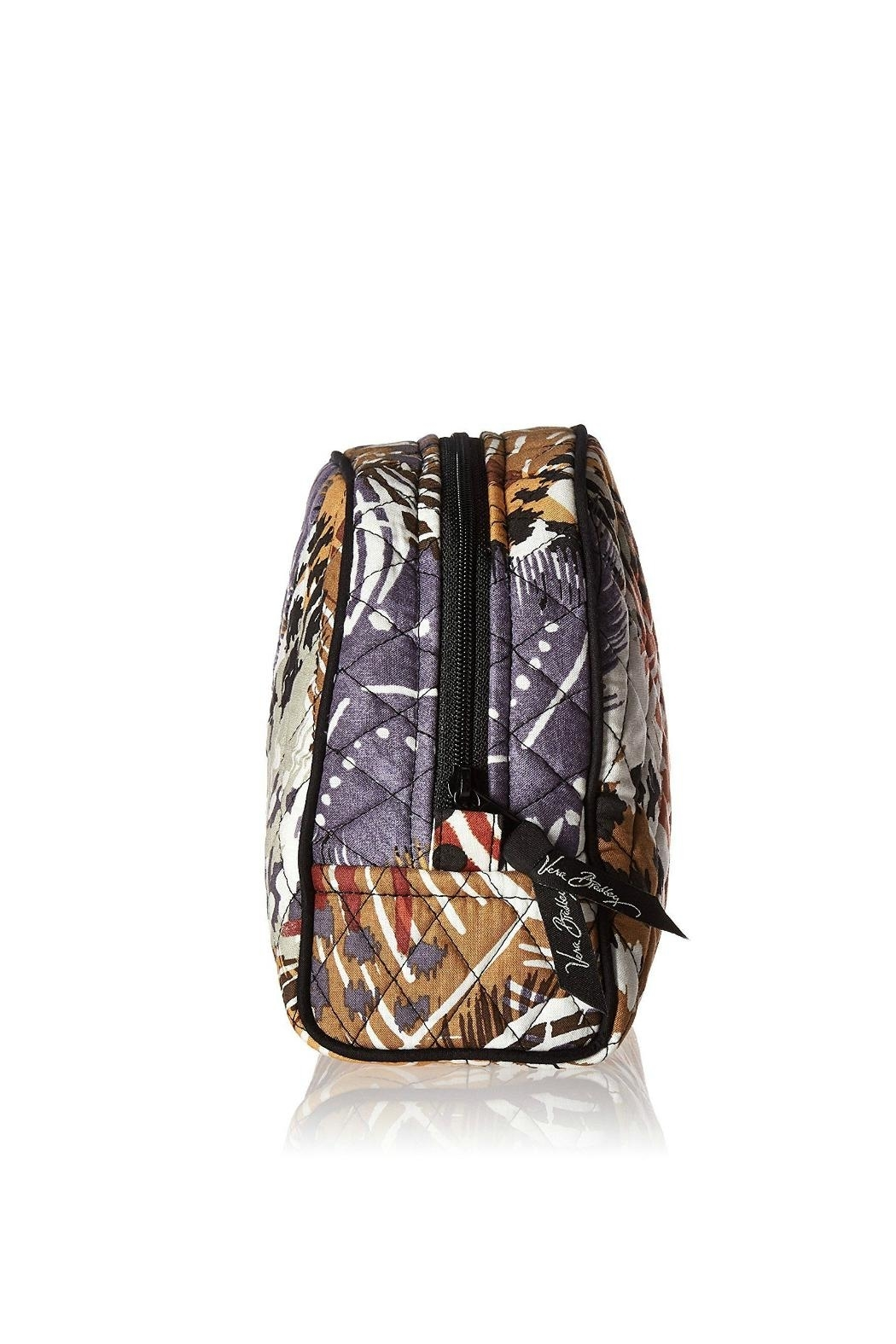 Vera Bradley Painted Feathers Large-Cosmetic - Side Cropped Image
