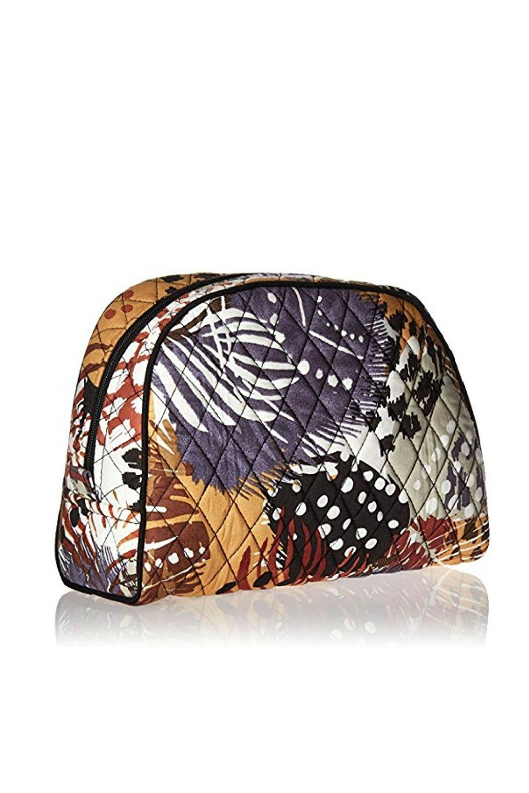 Vera Bradley Painted Feathers Large-Cosmetic - Front Full Image