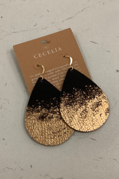 Cecelia Designs Jewelry Painted Leather Earring Collection - Alternate List Image