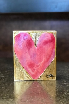 Ginger Leigh Painted Wood Heart - Product List Image