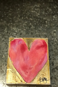 Ginger Leigh Painted Wood Heart - Alternate List Image