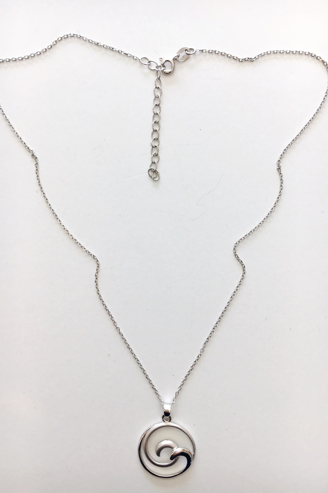 925co Double Wave Necklace - Front Full Image