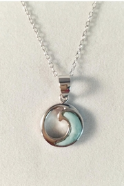 Painted Daisies Larimar Wave Necklace - Product Mini Image