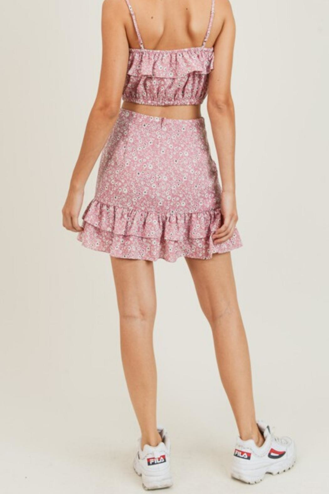 Painted Threads  Lily Ruffle Skirt - Side Cropped Image