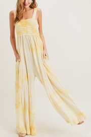 Painted Threads  Tie-Dye Smocked Jumpsuit - Front cropped
