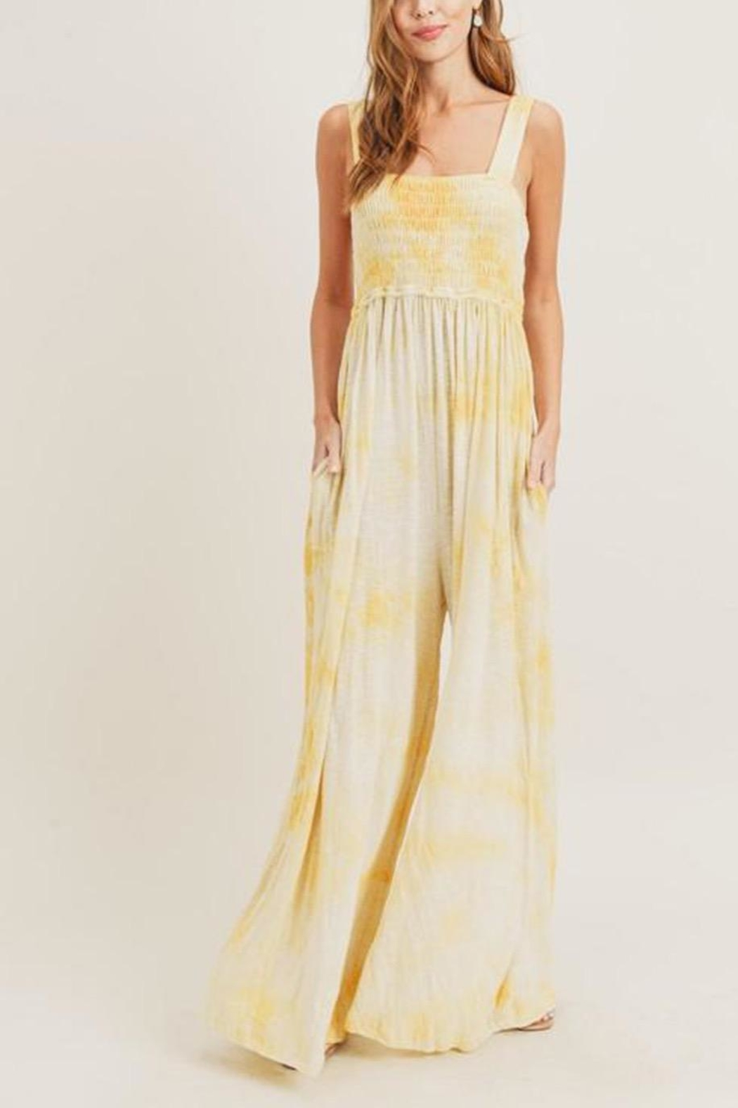 Painted Threads  Tie-Dye Smocked Jumpsuit - Side Cropped Image