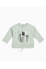 Miles Baby Painter Drawstring Sweatshirt - Front cropped