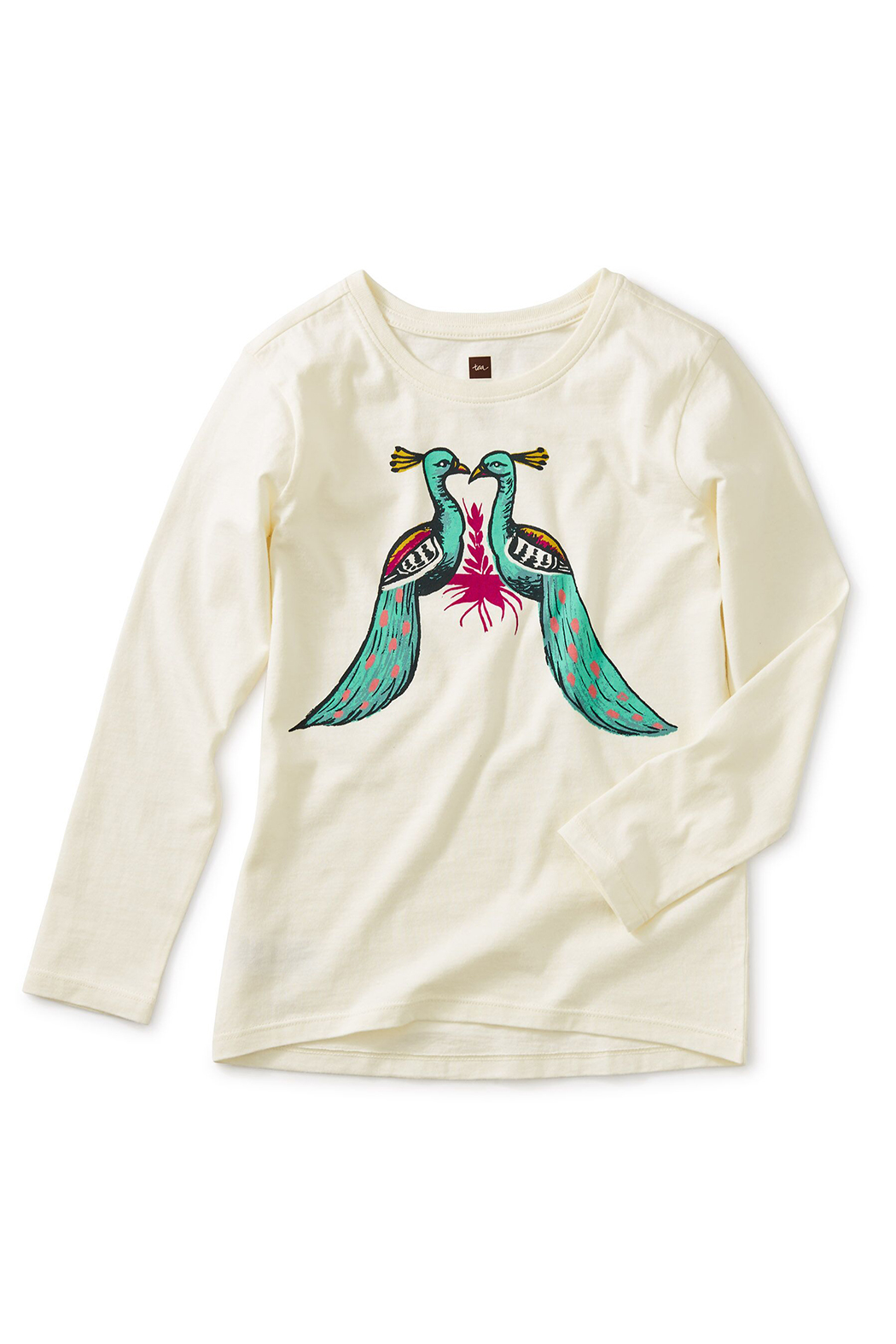 Tea Collection Pair of Peacocks Graphic Tee - Main Image