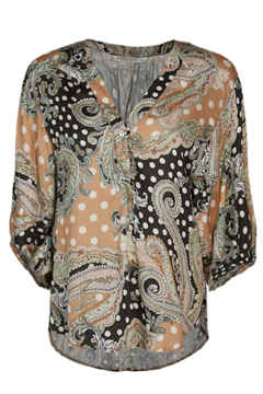 Summum Paisley and Dots Top - Alternate List Image