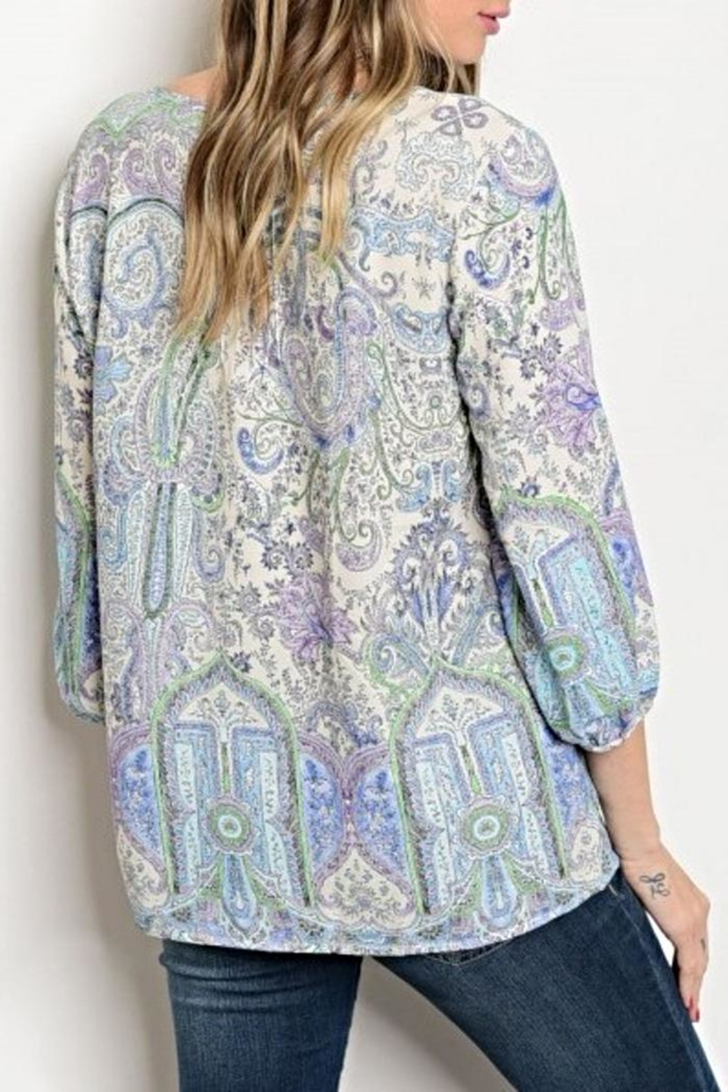 Available Paisley Blouse - Front Full Image
