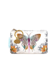 Papaya Paisley Butterfly Coin Purse - Product Mini Image