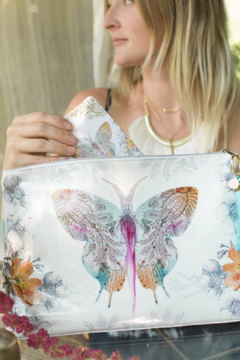 PAPAYA! Paisley Butterfly Large Tassel Pouch - Alternate List Image