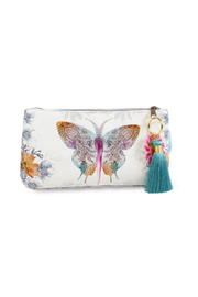 Papaya Paisley Butterfly Small Pouch - Product Mini Image