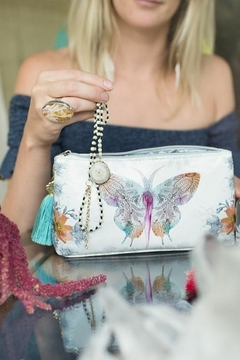PAPAYA! Paisley Butterfly Small Tassel Pouch - Alternate List Image
