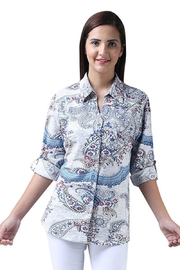 Parsley & Sage Paisley Button-Up Shirt - Product Mini Image