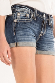 Miss Me Paisley-Embellished Midrise Shorts - Other