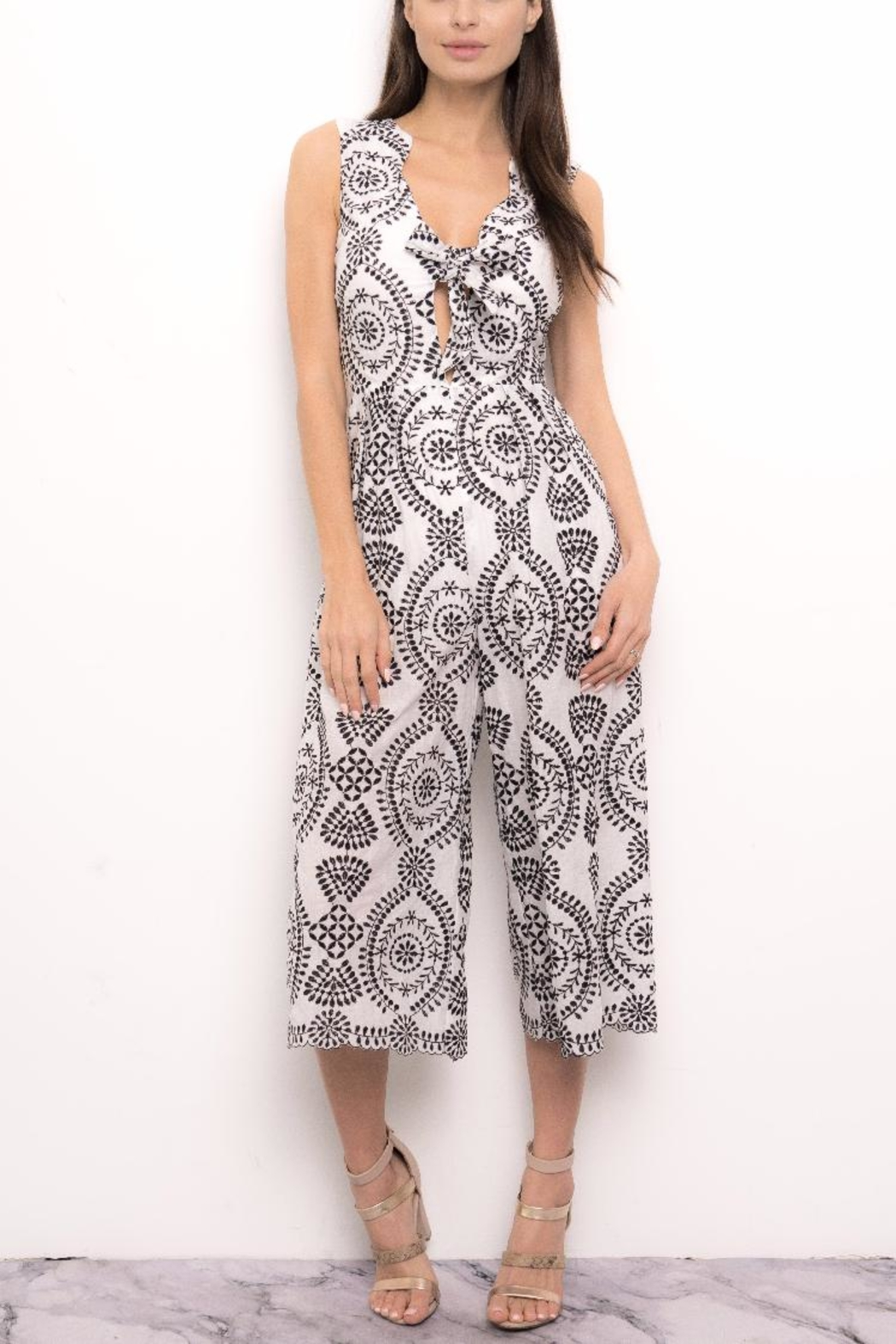 Blithe  Paisley Embroidered Jumpsuit - Main Image