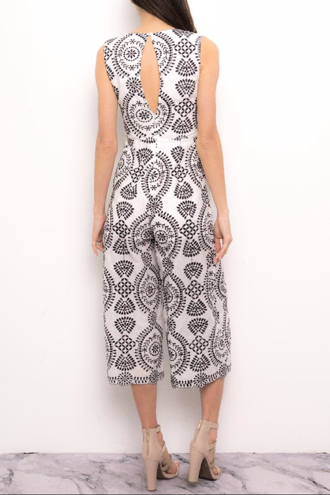 Blithe  Paisley Embroidered Jumpsuit - Front Full Image