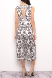 Blithe  Paisley Embroidered Jumpsuit - Front full body