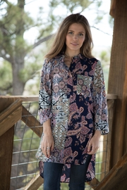 Olive Hill Paisley Floral Tunic - Product Mini Image