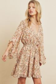 dress forum Paisley Frill Sleeve Dress - Side cropped