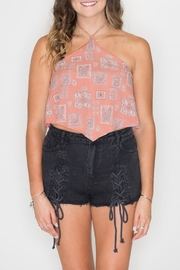 Wild Honey Paisley Halter Top - Product Mini Image