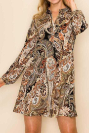 Trendy Style Paisley Happiness Dress - Front cropped