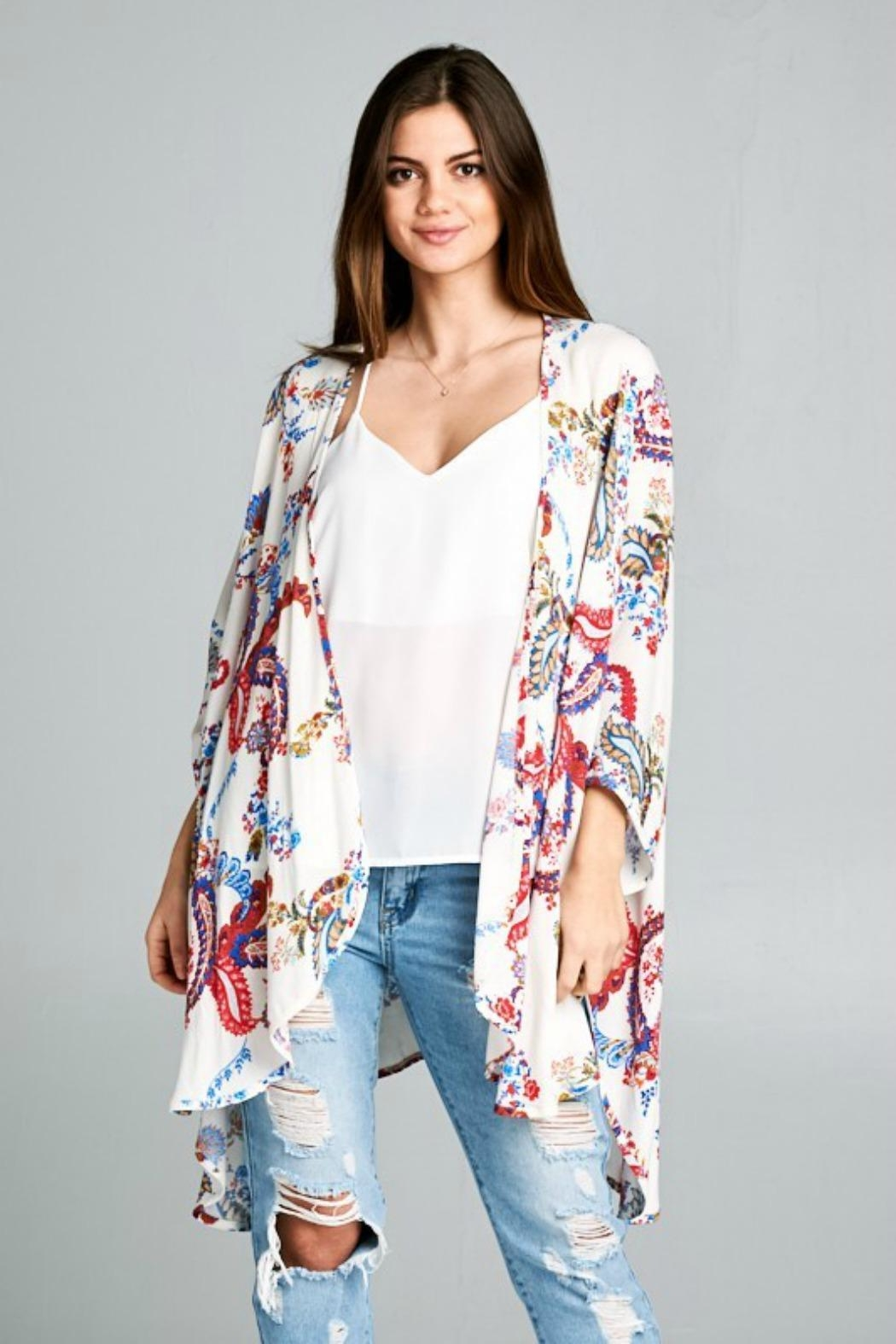 Style Rack Paisley Kimono Top - Front Cropped Image