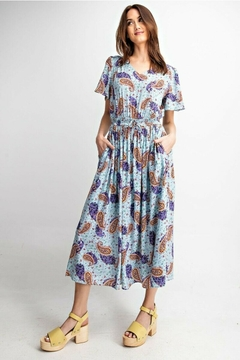 Easel  Paisley Midi Dress - Product List Image