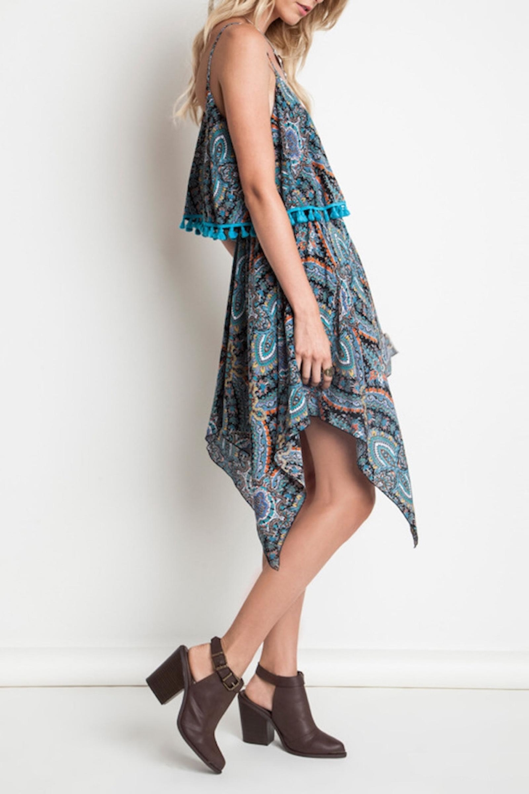 People Outfitter Paisley Overlay Dress - Side Cropped Image