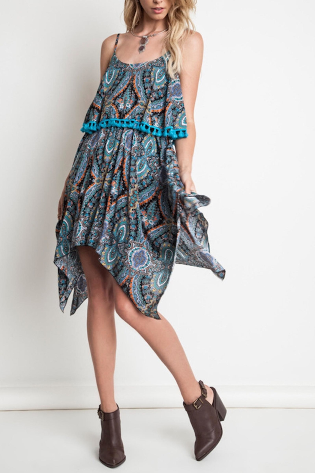 People Outfitter Paisley Overlay Dress - Main Image
