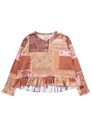 Munster Kids Paisley Patchwork Jerry LS Tee - Product Mini Image