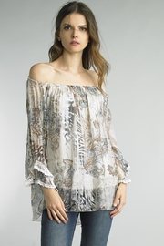 Tempo Paris Paisley Peasant Blouse - Product Mini Image