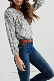Lucky Brand Paisley Peasant Top - Product Mini Image