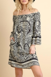 Umgee USA Paisley-Print Day Dress - Front cropped