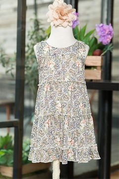 sassy Bling Paisley Print Dress - Alternate List Image