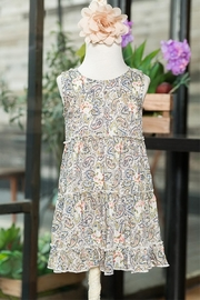 sassy Bling Paisley Print Dress - Product Mini Image