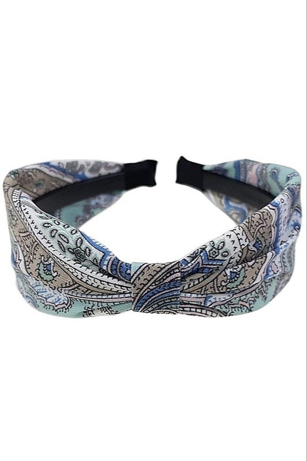 Girly Paisley Print Headband - Front Cropped Image