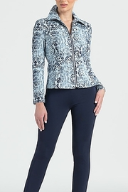 Clara Sunwoo PAISLEY PRINT JACQUARD STRETCH ZIP JACKET - Product Mini Image