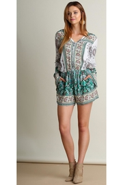 People Outfitter Paisley Print Romper - Product Mini Image