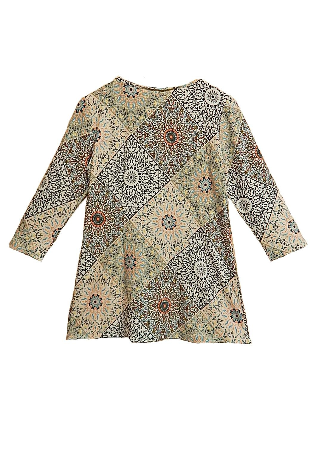 Melissa Paige Paisley Print Top - Front Full Image