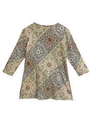 Melissa Paige Paisley Print Top - Front full body