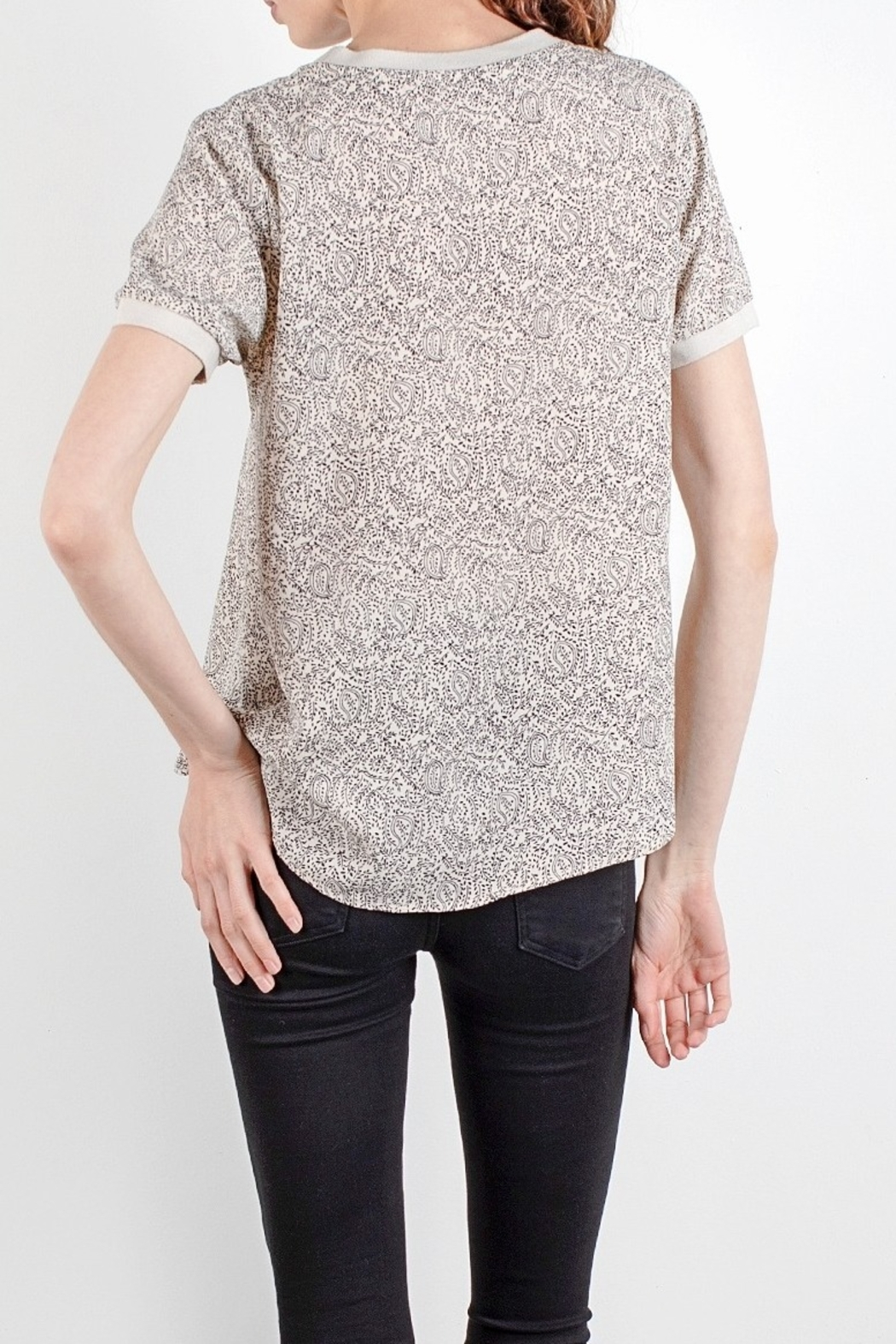 Mod Ref Paisley printed short sleeve top - Front Full Image