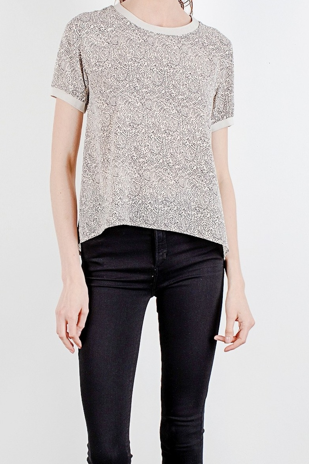 Mod Ref Paisley printed short sleeve top - Main Image