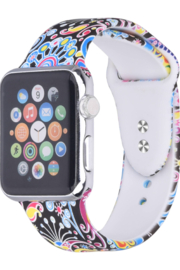 ShopTrendsNow Paisley Printed Silicone Bands Apple Watch - Product Mini Image