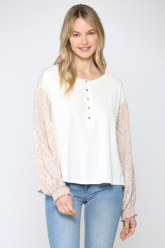 Fate Paisley Printed Sleeve Top - Product List Image