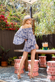 Blue B Paisley Romper - Side cropped