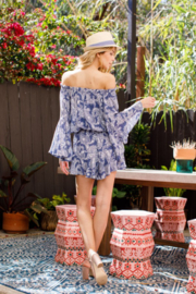 Blue B Paisley Romper - Back cropped